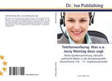 Bookcover of Telefonwerbung. Was u.a. Jerzy Montag dazu sagt