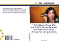 Buchcover von Telefonüberwachung. Was u.a. Brigitte Zypries dazu sagt