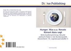 Buchcover von Hunger. Was u.a. Renate Künast dazu sagt