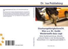 Couverture de Staatsangehörigkeitsrecht. Was u.a. Dr. Guido Westerwelle dazu sagt