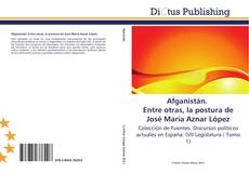 Buchcover von Afganistán. Entre otras, la postura de José María Aznar López