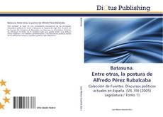 Buchcover von Batasuna. Entre otras, la postura de Alfredo Pérez Rubalcaba
