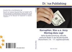 Bookcover of Korruption. Was u.a. Jerzy Montag dazu sagt