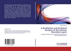Bookcover of A Qualitative and Analytical Analysis of the Laminar Boundary Layers