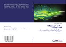 Bookcover of Effective Teacher Preparation