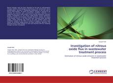 Couverture de Investigation of nitrous oxide flux in wastewater treatment process