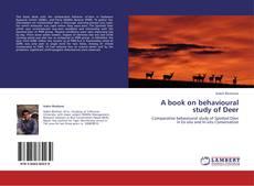 Portada del libro de A book on behavioural study of Deer
