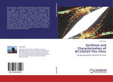 Bookcover of Synthesis and Characterization of Bi12SiO20 Thin Films