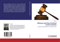 Buchcover von Witness and the Criminal Justice System