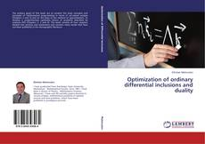 Couverture de Optimization of ordinary differential inclusions and duality