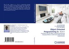 Bookcover of Object Oriented Programming in - C++