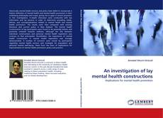 Capa do livro de An investigation of lay mental health constructions