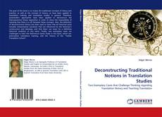 Copertina di Deconstructing Traditional Notions in Translation Studies