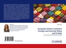 Portada del libro de European Union's Common Foreign and Security Policy and Turkey