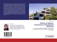 Bookcover of Effects of Modern movement on Residential Buildings