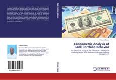 Bookcover of Econometric Analysis of Bank Portfolio Behavior
