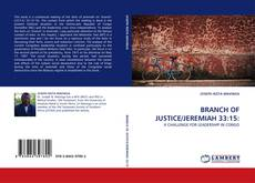 Bookcover of BRANCH OF JUSTICE/JEREMIAH 33:15:
