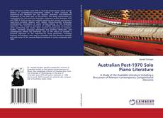 Bookcover of Australian Post-1970 Solo Piano Literature