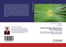 Plant Isotope Signatures: For Crop traits kitap kapağı