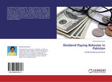 Dividend Paying Behavior in Pakistan的封面