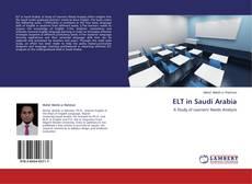 Bookcover of ELT in Saudi Arabia