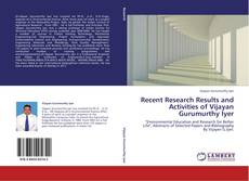 Capa do livro de Recent Research Results and Activities of Vijayan Gurumurthy Iyer