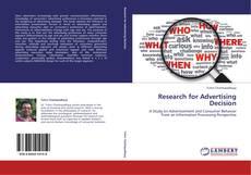 Couverture de Research for Advertising Decision
