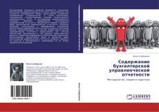 Capa do livro de Содержание бухгалтерской управленческой отчетности
