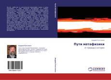 Обложка Пути метафизики