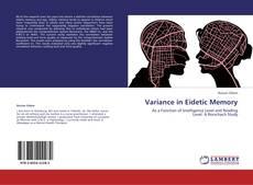 Обложка Variance in Eidetic Memory