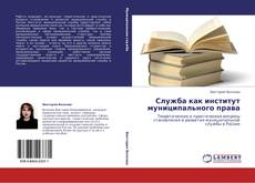 Bookcover of Служба как институт муниципального права