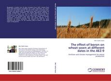 The effect of boron on wheat sown at different dates in the AEZ-9 kitap kapağı