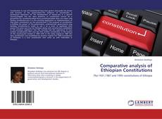 Portada del libro de Comparative analysis of Ethiopian Constitutions