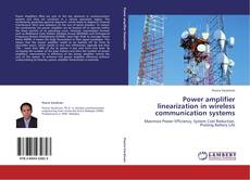 Bookcover of Power amplifier linearization in wireless communication systems