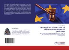 Capa do livro de The right to life in cases of serious environmental pollution
