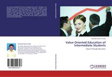 Bookcover of Value Oriented Education of Intermediate Students