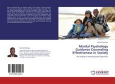 Capa do livro de Marital Psychology Guidance Counseling Effectiveness in Society