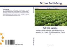 Bookcover of Política agraria