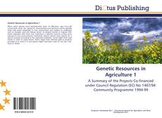 Couverture de Genetic Resources in Agriculture 1