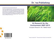 EU Research for the Environment 2007-2013 kitap kapağı