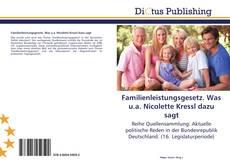 Bookcover of Familienleistungsgesetz. Was u.a. Nicolette Kressl dazu sagt