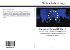Capa do livro de European Union Bill Vol. 1