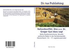 Buchcover von Nahostkonflikt. Was u.a. Dr. Gregor Gysi dazu sagt