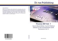 Buchcover von Finance Bill Vol. 1