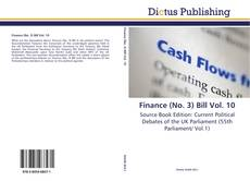 Finance (No. 3) Bill Vol. 10的封面