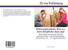 Bookcover of Wohnungslosigkeit. Was u.a. Gero Storjohann dazu sagt