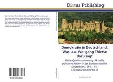 Demokratie in Deutschland. Was u.a. Wolfgang Thierse dazu sagt kitap kapağı