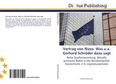 Portada del libro de Vertrag von Nizza. Was u.a. Gerhard Schröder dazu sagt