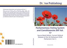 Couverture de Parliamentary Voting System and Constituencies Bill Vol. 17