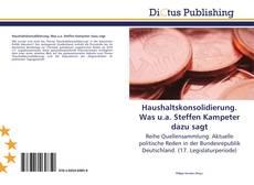 Portada del libro de Haushaltskonsolidierung. Was u.a. Steffen Kampeter dazu sagt